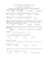 Bài tập trắc nghiệm môn toán cuối năm lớp 5