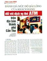 Đánh giá mức độ hài lòng của khách hàng đối với dịch vụ thẻ ATM trên địa bàn thành phố cần thơ