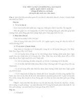 Bộ câu hỏi và đáp án môn kiến thức chung (dùng đề kiểm tra, sát hạch xét tuyển đặc cách vào viên chức)