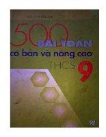 500 bài toán cơ bản và nâng cao lớp 9 tập 1