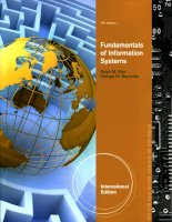 Fundamentals of information systems seventh edition c