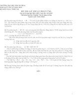 đề thi và đáp án môn kỹ thuật phản ứng