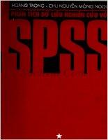 Phân tích dữ liệu nghiên cứu với SPSS  tập 1