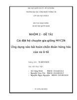 Cài đặt hệ chuyên gia giống MYCIN ứng dụng vào bài toán chẩn đoán hỏng hóc của xe ô tô