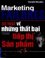Sự thật về những thất bại trong tiếp thị sản phẩm
