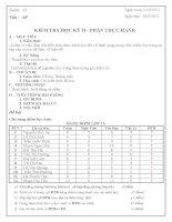 giáo án kiểm tra học kì 2(tin 7 có mt+ đáp án )