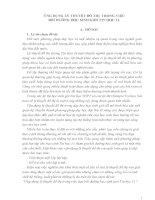 SKKN ỨNG DỤNG lý THUYẾT đồ THỊ TRONG VIỆC bồi DƯỠNG học SINH GIỎI TIN học 11
