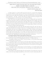 MỘT số  SUY NGHĨ về GIẢNG dạy các tín CHỈ THỰC HÀNH TRONG các học PHẦN lý THUYẾT CHO SINH VIÊN NGÀNH QUY HOẠCH VÙNG và đô  THỊ