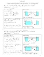 Ứng dụng đạo hàm để giải phương trình, bất phương trình