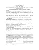 TIÊU CHUẨN QUỐC GIA THUỐC BẢO VỆ THỰC VẬT CHỨA HOẠT CHẤT PENCYCURON  YÊU CẦU KỸ THUẬT VÀ PHƯƠNG PHÁP THỬ