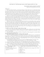 CẬP NHẬT xử TRÍ nội  KHOA RUNG NHĨ ở BỆNH NHÂN SUY TIM