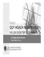 Bài giảng Lập và phân tích dự án: Chương 7  Nguyễn Ngọc Bình Phương