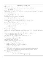 Tóm tắt ôn tập kiến thức toán 9 cả năm