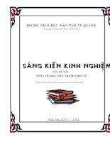 SKKN :Cách dạy một số bài tập phân tích đa thức thành nhân tử