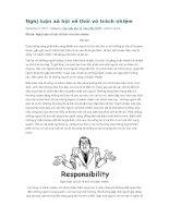 Nghị luận xã hội về thói vô trách nhiệm