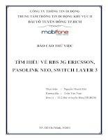 Tìm hiểu về RBS 3g ericsson, pasolink neo, switch layer 3