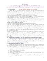 BÀI DỰ THI VẬN DỤNG KIẾN THỨC LIÊN MÔN ĐỂ GIẢI QUYẾT CÁC  TÌNH HUỐNG THỰC TIỄN DÀNH CHO HỌC SINH TRUNG HỌC CƠ SỞ NƯỚC VÀ ĐỜI SỐNG CON NGƯỜI
