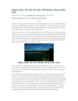 Nghị luận xã hội về vấn đề rừng vàng biển bạc