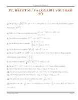Phương trình mũ và logarit với tham số