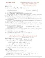 Bộ đề toán thi vào10 ba miền(2010 2011)(Có đáp án chi tiết)