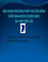 Vận dụng phương pháp thẻ cân bằng điểm tại VNPT đăk lăk
