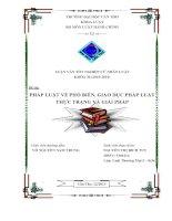 pháp luật về phổ biến, giáo dục pháp luật thực trạng và giải pháp