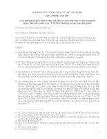 Tiêu chuẩn EU Qui định EC số 3332007 ngày 28 tháng 3 năm 2007 về các phương pháp lấy mẫu và phân tích để kiểm soát chính thức các hàm lượng chì catmi  thuỷ ngân thiếc vô cơ 3 MCPD và benzo apyrene trong thực phẩm