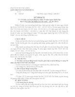 kế hoạch tổ chức lễ KN 70 năm ngày thành lập Đội TNTP TH Tân Phước B