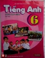 Sách giáo khoa Tiếng anh 6 thí điểm tập 2