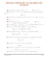 Bài tập PT mũ và logarit với tham số