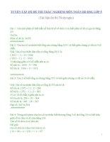 TUYỂN TẬP 152 ĐỀ THI TRẮC NGHIỆM MÔN TOÁN BỒI DƯỠNG HSG LỚP 5 (Tài liệu ôn thi Violympic Toán)