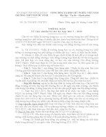 Mời HĐT xem và chuẩn bị cho kỳ họp thứ 7 tháng 8/2011