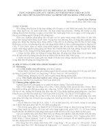 NGHIÊN cứu sự BIẾN đổi các THÔNG số TRẮC NGHIỆM GẮNG sức THẢM lăn ở BỆNH NHÂN TRÊN 40 TUỔI mắc hội CHỨNG CHUYỂN HOÁ tại BỆNH VIỆN đa KHOA VĨNH LONG