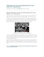 Giới thiệu một vài nét về phạm đình hổ và tác phẩm vũ trung tùy bút