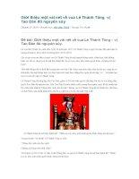 Giới thiệu một vài nét về vua lê thánh tông  vị tao đàn đô nguyên súy