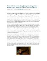 Phân tích tác phẩm chuyện người con gái nam xương trong truyền kì mạn lục của nguyễn dữ