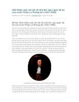 Giới thiệu một vài nét về nhà thơ ngụ ngôn tài ba của nước pháp la phông ten
