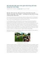 Kể một trận đấu giao hữu giữa đội bóng đá hoặc bóng bàn cầu lông