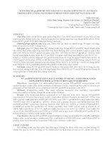 NỒNG độ NT proBNP HUYẾT THANH và THANG điểm NGUY  cơ GRACE  TRONG   TIÊN  LƯỢNG NGẮN hạn ở BỆNH NHÂN hội CHỨNG VÀNH cấp