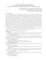 ỨNG DỤNG máy tạo NHỊP TIM TRÊN BỆNH NHÂN rối LOẠN NHỊP TIM CHẬM tại BỆNH VIỆN đa KHOA TỈNH BÌNH ĐỊNH TRONG 2 năm 6 2009 4 2011