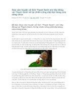 Dựa vào truyện cổ tích thạch sanh em hãy đóng vai thạch sanh kể lại chiến công diệt đợi bàng cứu công chúa