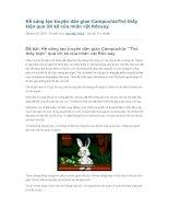 Kể sáng tạo truyện dân gian campuchiathỏ thấy kiện qua lời kể của nhân vật rốcsay