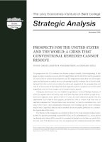 Prospects for the united states and the world a crisis that conventional remedies cannot resolve