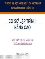 Bài giảng cơ sở lập trình nâng cao   đh ngoại ngữ TP HCM