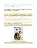 Truyện kiều của nguyễn du là một công trình nghệ thuật thiên tài