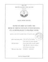 Đánh giá hiệu quả điều trị bệnh ấu trùng sán lợn (cysticercosis) của albendazole và praziquantel
