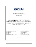 Determinants of consumer satisfaction on service quality in private comercial banks in ho chi minh city