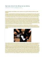 Nghị luận xã hội về vấn đề bạo lực học đường