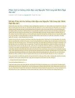 Phân tích tư tưởng nhân đạo của nguyễn trãi trong bài bình ngô đại cáo