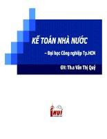 Kế toán nhà nước   chương 1  tổng quan về kế toán hành chính sự nghiệp